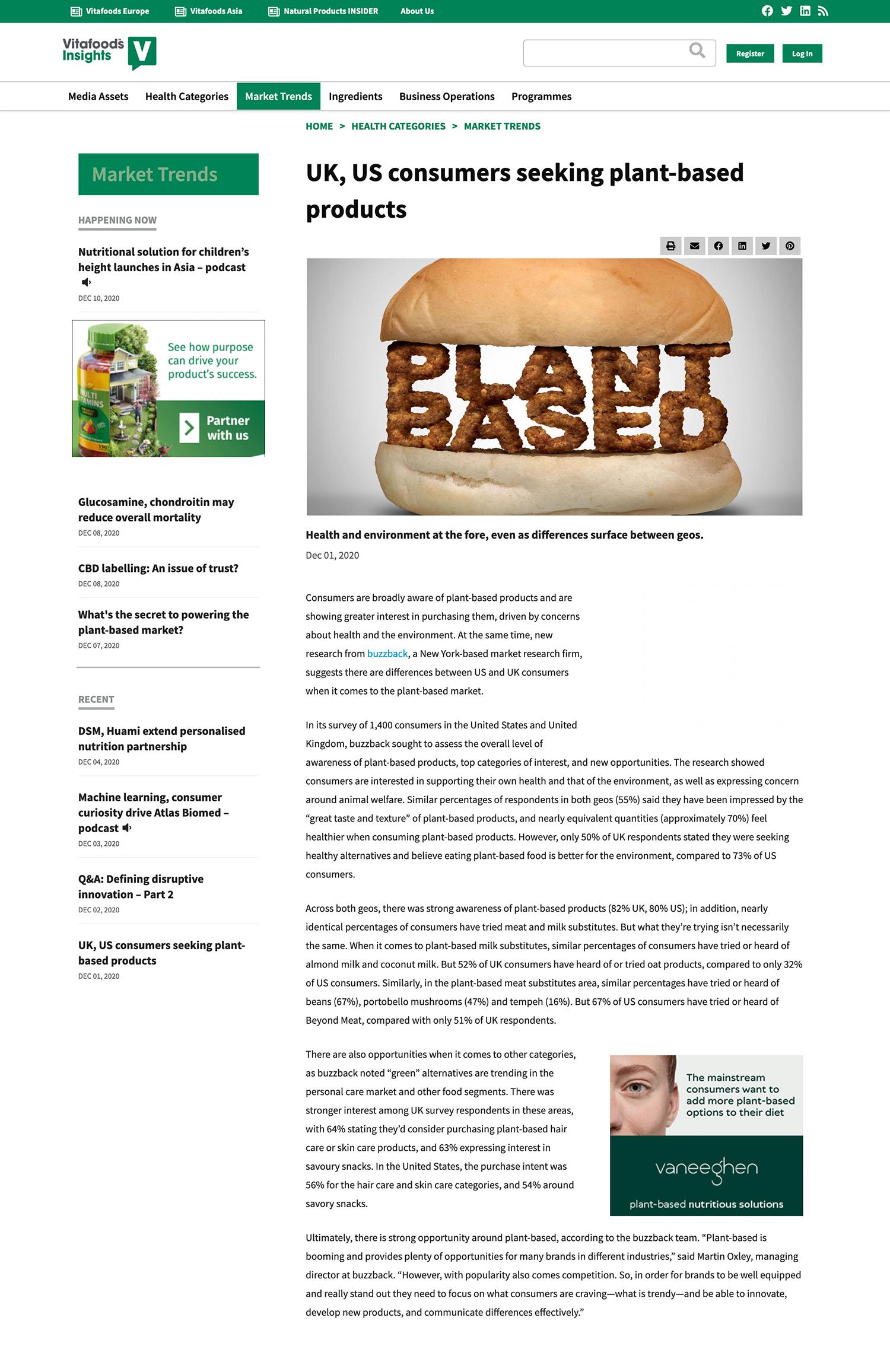 Vital Food - Plant based article